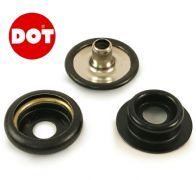 DOT Black Fasteners Press Snap Stud Socket & Cap Fit Boat Awning Canopy Canvas